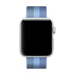 Nylon bandje voor de Apple Watch 38mm Tahoe Blue-010