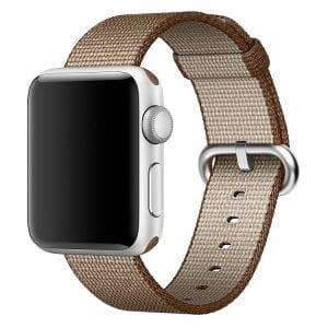 Nylon bandje voor de Apple Watch 42mm Coffee-003