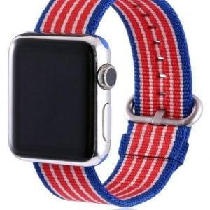 Nylon bandje voor de Apple Watch American Flag-001