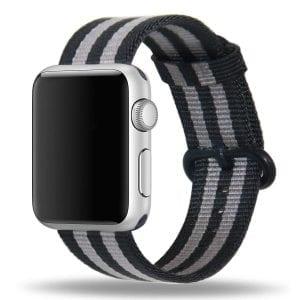 Nylon bandje voor de Apple Watch Black Gray-004