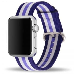 Nylon bandje voor de Apple Watch Blauw Paars-004