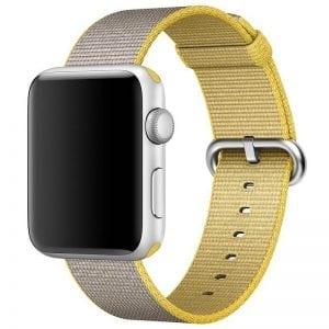 Nylon bandje voor de Apple Watch Geel-004