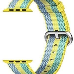 Nylon bandje voor de Apple Watch Geel Groen-004