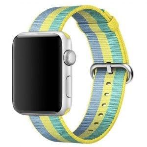 Nylon bandje voor de Apple Watch Geel Groen-008
