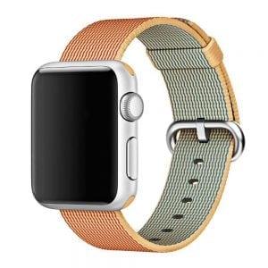 Nylon bandje voor de Apple Watch Goud Rood-003