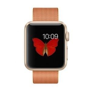 Nylon bandje voor de Apple Watch Goud Rood-008