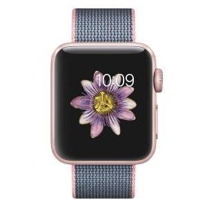 Nylon bandje voor de Apple Watch Licht Roze-002