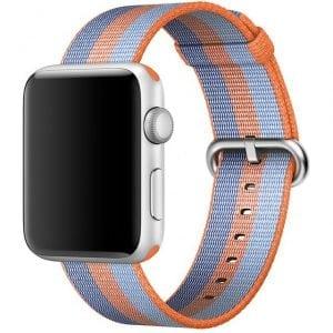 Nylon bandje voor de Apple Watch Oranje Blauw-007