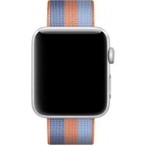 Nylon bandje voor de Apple Watch Oranje Blauw-008
