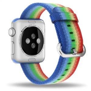 Nylon bandje voor de Apple Watch Regenboog-001