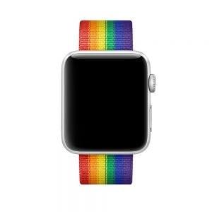 Nylon bandje voor de Apple Watch Regenboog-011