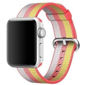 Nylon bandje voor de Apple Watch Rood Geel-012