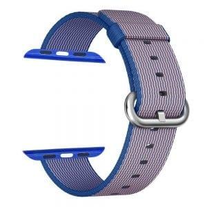 Nylon bandje voor de Apple Watch Royal Blue-001