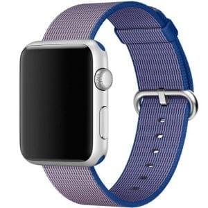 Nylon bandje voor de Apple Watch Royal Blue-003