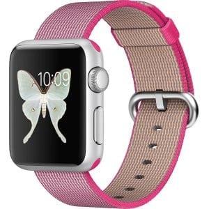 Nylon bandje voor de Apple Watch Roze-006