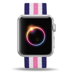 Nylon bandje voor de Apple Watch Roze Blauw-008