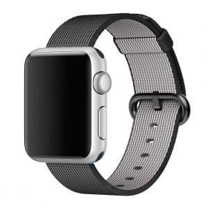 Nylon bandje voor de Apple Watch Zwart-001