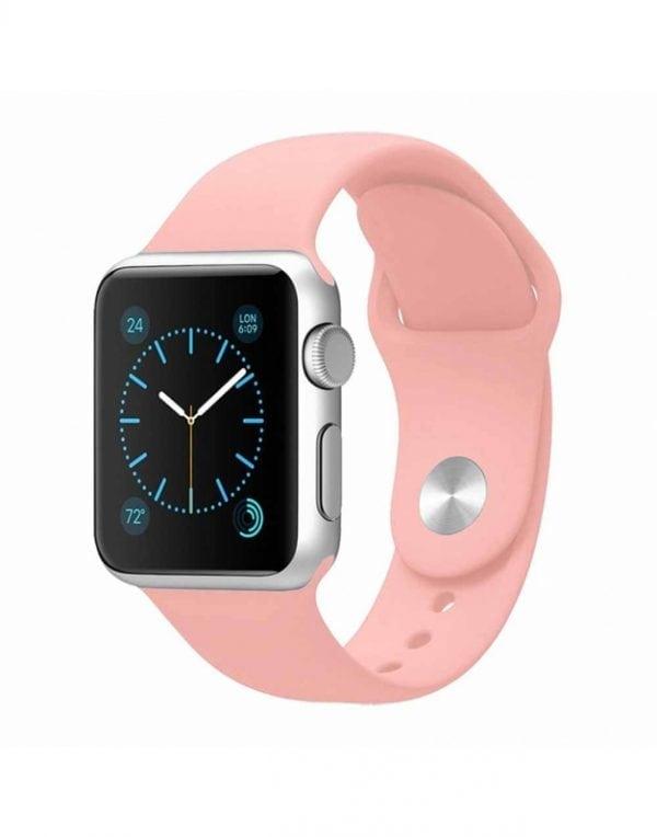 Rubberen sport bandje voor de Apple Watch 38mm Light Pink-101