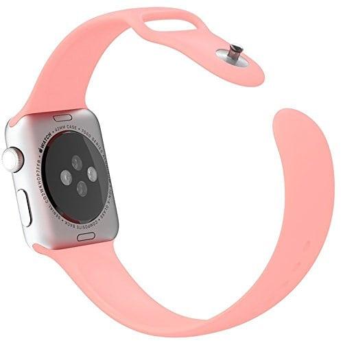 Rubberen sport bandje voor de Apple Watch 38mm Light Pink-102