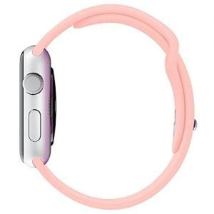 Rubberen sport bandje voor de Apple Watch 38mm - 40mm S/M - Light Pink