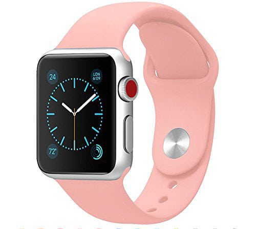 Rubberen sport bandje voor de Apple Watch 38mm Light Pink-104