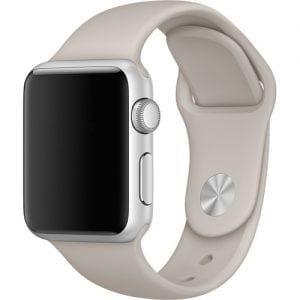 Rubberen sport bandje voor de Apple Watch 38mm - 40mm S/M - Lavender