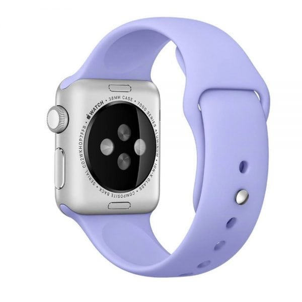 Rubberen sport bandje voor de Apple Watch Paars-100