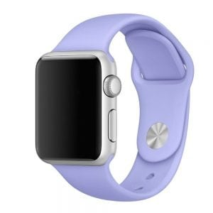Rubberen sport bandje voor de Apple Watch 38mm - 40mm S/M - Paars