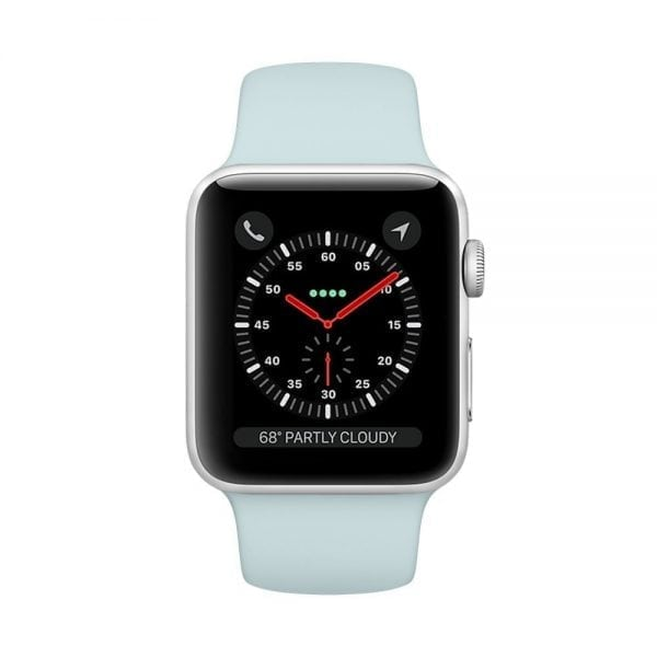 Rubberen sport bandje voor de Apple Watch Turquoise-105