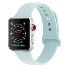 Rubberen sport bandje voor de Apple Watch 38mm - 40mm S/M - Turquoise