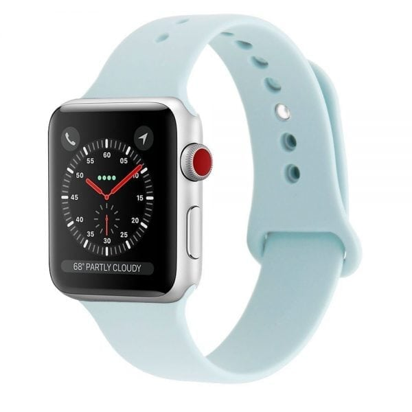 Rubberen sport bandje voor de Apple Watch Turquoise-107