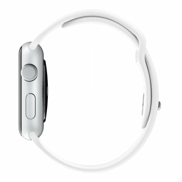 Rubberen sport bandje voor de Apple Watch Wit-003