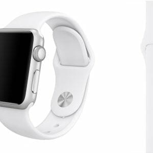 Rubberen sport bandje voor de Apple Watch Wit-005