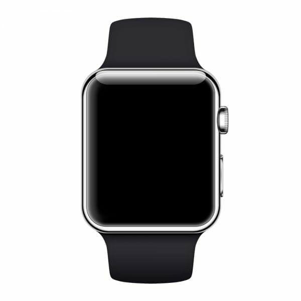 Rubberen sport bandje voor de Apple Watch Zwart-002
