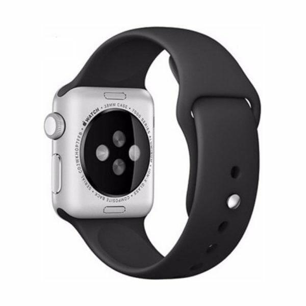 Rubberen sport bandje voor de Apple Watch Zwart-004