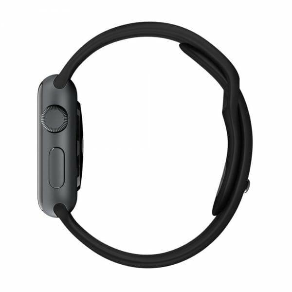 Rubberen sport bandje voor de Apple Watch Zwart-008