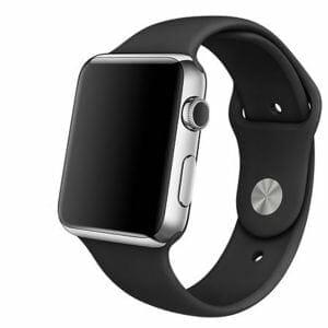 Rubberen sport bandje voor de Apple Watch Zwart-009