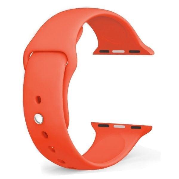 Rubberen sport bandje voor de Apple Watch oranje-100