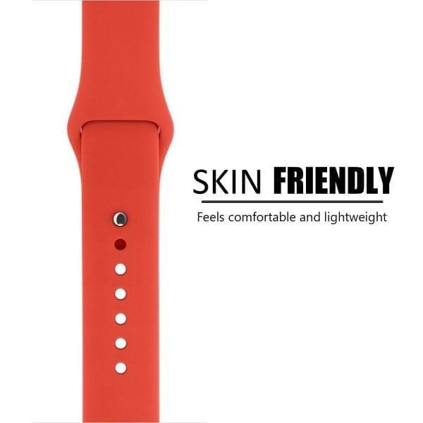 Rubberen sport bandje voor de Apple Watch oranje-101