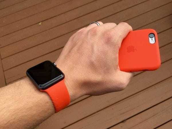 Rubberen sport bandje voor de Apple Watch oranje-103