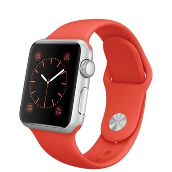 Rubberen sport bandje voor de Apple Watch oranje-104