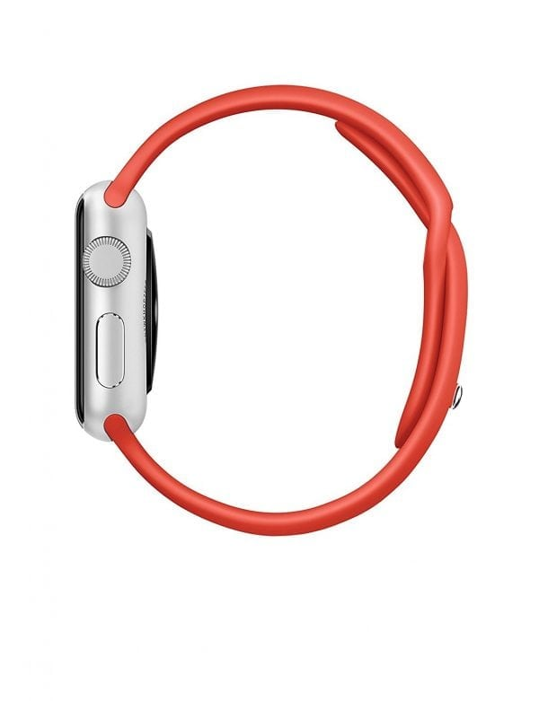 Rubberen sport bandje voor de Apple Watch oranje-105