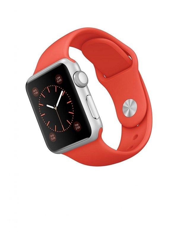 Rubberen sport bandje voor de Apple Watch oranje-106