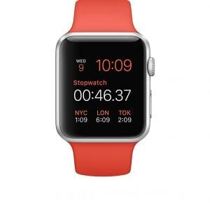 Rubberen sport bandje voor de Apple Watch 38mm - 40mm S/M - Oranje