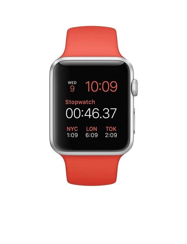 Rubberen sport bandje voor de Apple Watch oranje-107