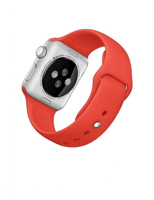 Rubberen sport bandje voor de Apple Watch oranje-108