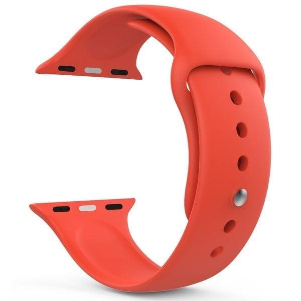 Rubberen sport bandje voor de Apple Watch oranje-109