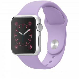 Rubberen sport bandje voor de Apple Watch paars-005