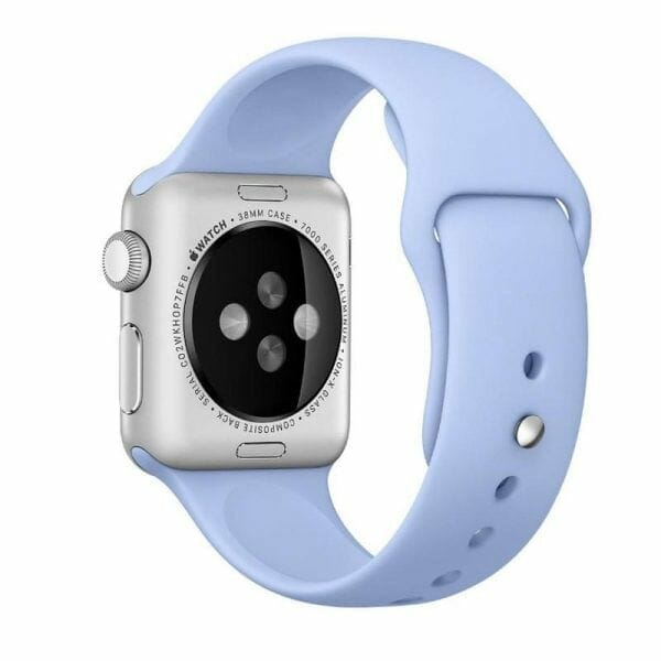 Third party Apple watch bands rubberen sport bandje Lila-002