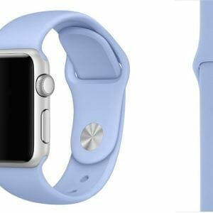 Third party Apple watch bands rubberen sport bandje Lila-006
